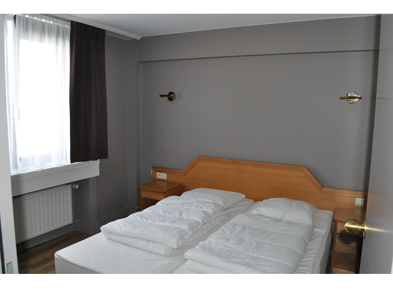 slaapkamer studio Liberty hotel Blankenberge